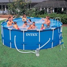 Piscina infl vel arma o compare no zoom for Alberca intex redonda
