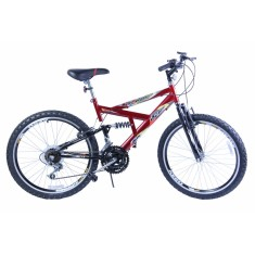 Foto Bicicleta Mountain Bike Dalannio Bike 18 Marchas Aro 20 Suspensão Full Suspension Freio V-Brake Max 240