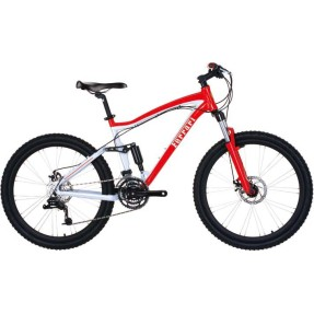 Foto Bicicleta Mountain Bike Komda 24 Marchas Aro 26 Suspensão Full Suspension Freio a Disco Ferrari