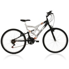 Foto Bicicleta Mountain Bike Mormaii 18 Marchas Aro 26 Suspensão Full Suspension Freio V-Brake Fullsion