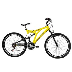 Foto Bicicleta Mountain Bike Mormaii 24 Marchas Aro 26 Suspensão Full Suspension Freio V-Brake Padang