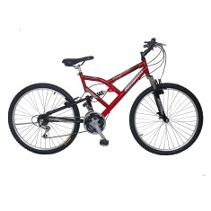 Foto Bicicleta Mountain Bike South Bike 18 Marchas Aro 26 Suspensão Full Suspension Freio V-Brake