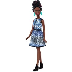 Foto Boneca Barbie Fashionistas Blue Brocade Mattel