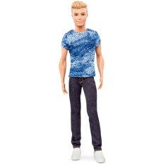 Foto Boneca Barbie Fashionistas Denim Blues Mattel
