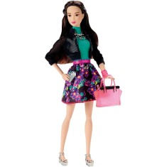 Foto Boneca Barbie Look do Dia Floral Mattel