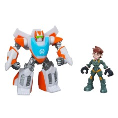 Foto Boneco Transformers Rescue Bots Blades The Flight Bot e Dani Burns A0672 - Hasbro