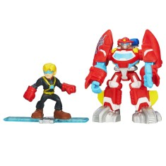 Foto Boneco Transformers Rescue Fire Bot e Cody Burns - Hasbro