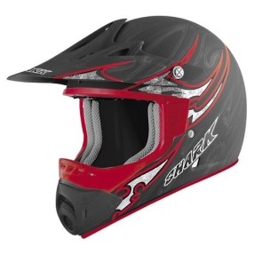 Foto Capacete Shark SX1 Black One Kra Off-Road