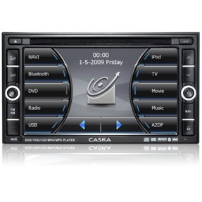 "Foto Central Multimídia Automotiva Caska 7 "" CA1624H Touchscreen USB"