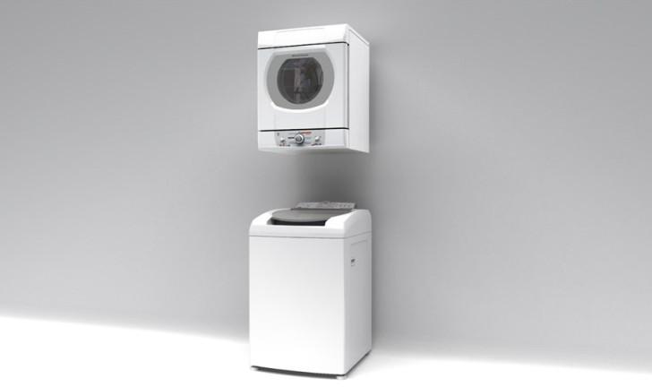 Conhe a modelos de secadora de roupas de parede for Lavadora secadora pequena