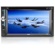 "Foto DVD Player Automotivo Multilaser 6 "" Zion P3307 Touchscreen Entrada para camêra de ré"