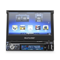"Foto DVD Player Automotivo Multilaser 7 "" GP044 Bluetooth USB"