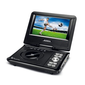 "Foto DVD Player Portátil Tela 7"" Play Action D-08 Mondial"