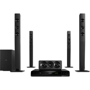 Foto Home Theater Philips com DVD 800 W 5.1 Canais Karaokê 1 HDMI HTD5570/78
