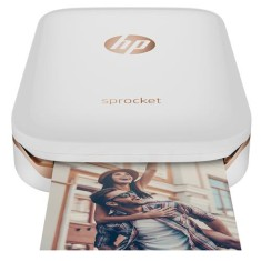 Foto Impressora Fotográfica HP Sprocket 100 Dye-Sublimation Colorida Sem Fio