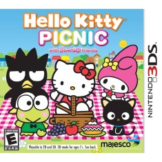 Foto Jogo Hello Kitty Picnic with Sanrio Friends Majesco Entertainment Nintendo 3DS