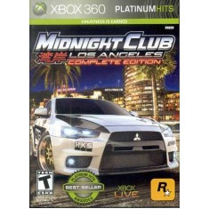 Foto Jogo Midnight Club Los Angeles Complete Edition Xbox 360 Rockstar