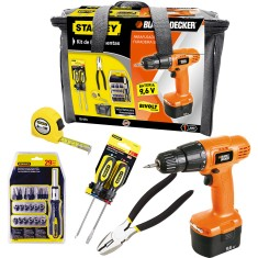 Foto Kit Furadeira / Parafusadeira 3/8 Black&Decker - CD961
