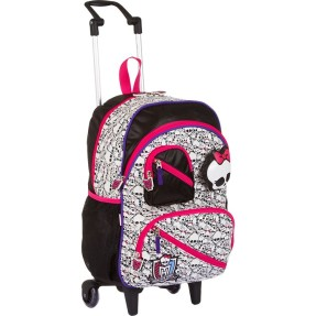 Foto Mochila com Rodinhas Escolar Sestini Monster High 16 Litros Monster High 62840