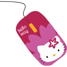 Foto Mouse Óptico USB SKR-84809M - Hello Kitty