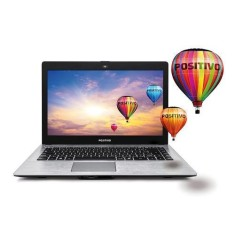 "Foto Notebook Positivo XRi7130 Intel Core i3 4005U 14"" 4GB SSD 32 GB"