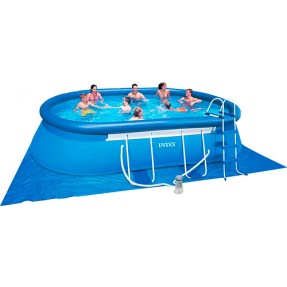 Foto Piscina Inflável 10.920 l Oval Intex 28191