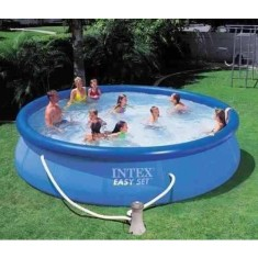 Foto Piscina Inflável 12.430 l Redonda Intex Easy Set 28166