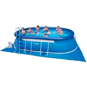 Foto Piscina Inflável 16.628 l Oval Intex 28193