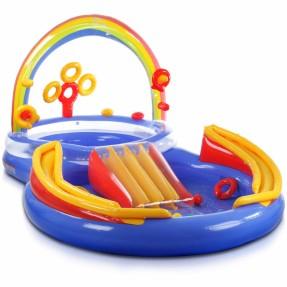 Piscina infl vel arma o intex infantil oval esporte e for Piscina inflavel arco iris intex playground com escorregador