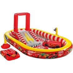 Foto Piscina Inflável 636 l Oval Intex Playground Disney Carros 57134