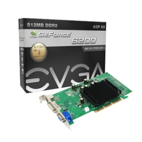 Foto Placa de Video NVIDIA GeForce FX 6200 512 MB DDR2 64 Bits EVGA 512-A8-N403-LR