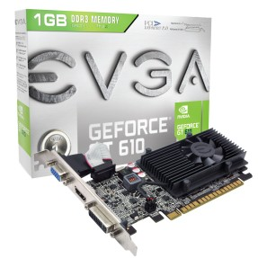 Foto Placa de Video NVIDIA GeForce GT 610 1 GB DDR3 64 Bits EVGA 01G-P3-2615-KR