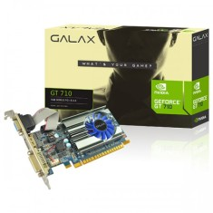 Foto Placa de Video NVIDIA GeForce GT 710 1 GB DDR3 64 Bits Galax 71GGH4HXJ4FN