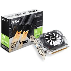 Foto Placa de Video NVIDIA GeForce GT 730 2 GB DDR3 128 Bits MSI N730-2GD3V3