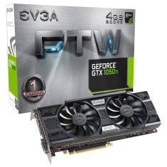 Foto Placa de Video NVIDIA GeForce GTX 1050 Ti 4 GB GDDR5 128 Bits EVGA 04G-P4-6258-KR