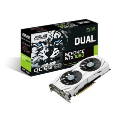 Foto Placa de Video NVIDIA GeForce GTX 1060 6 GB GDDR5 192 Bits Asus DUAL-GTX1060-O6G