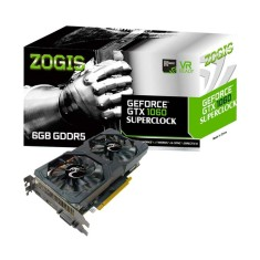 Foto Placa de Video NVIDIA GeForce GTX 1060 6 GB GDDR5 192 Bits Zogis ZO1060-6GD5SC