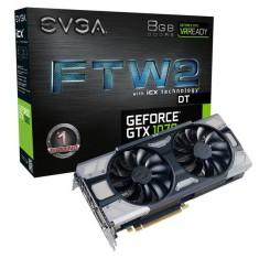 Foto Placa de Video NVIDIA GeForce GTX 1070 8 GB GDDR5 256 Bits EVGA 08G-P4-6674-KR