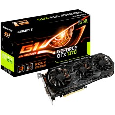 Foto Placa de Video NVIDIA GeForce GTX 1070 8 GB GDDR5 256 Bits Gigabyte GV-N1070G1 ROCK-8GD