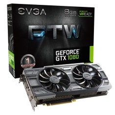 Foto Placa de Video NVIDIA GeForce GTX 1080 8 GB GDDR5X 256 Bits EVGA 08G-P4-6286-KR