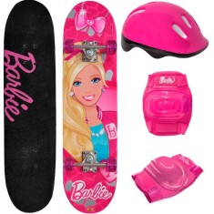 Foto Skate Infantil - Fun Barbie 7619-1