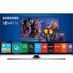 "Foto Smart TV LED 50"" Samsung Série 5 Full HD UN50J5500 3 HDMI"