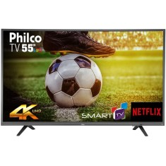 "Foto Smart TV LED 55"" Philco 4K PTV55U21DSWNT 3 HDMI"