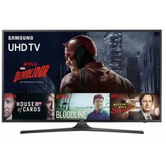 "Foto Smart TV LED 60"" Samsung Série 6 4K HDR UN60KU6000"