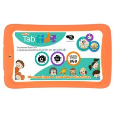 "Foto Tablet DL Eletrônicos Tab Kids 8GB 7"" Android 4.4 (Kit Kat)"