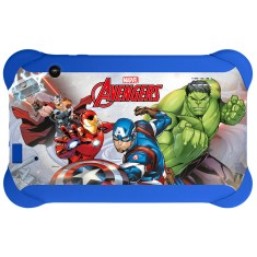 "Foto Tablet Multilaser Disney Vingadores NB240 8GB 7"" Android 2 MP 4.4 (Kit Kat)"