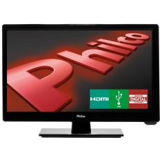 "Foto TV LED 16"" Philco PH16D10D 2 HDMI USB Frequência 60 Hz"