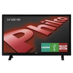 "Foto TV LED 24"" Philco PH24E30D 2 HDMI USB Frequência 50 Hz"