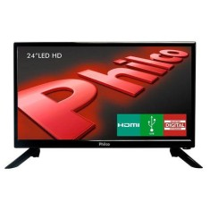 "Foto TV LED 24"" Philco PH24N91D 1 HDMI USB Frequência 60 Hz"