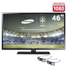 "Foto TV LED 3D 46"" Samsung Série 6 Full HD UN46F6100 2 HDMI"